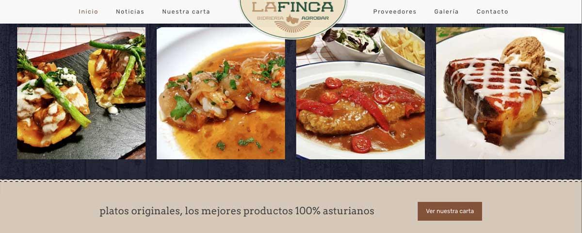 Nuevo diseño web Sidrería La Finca Agrobar
